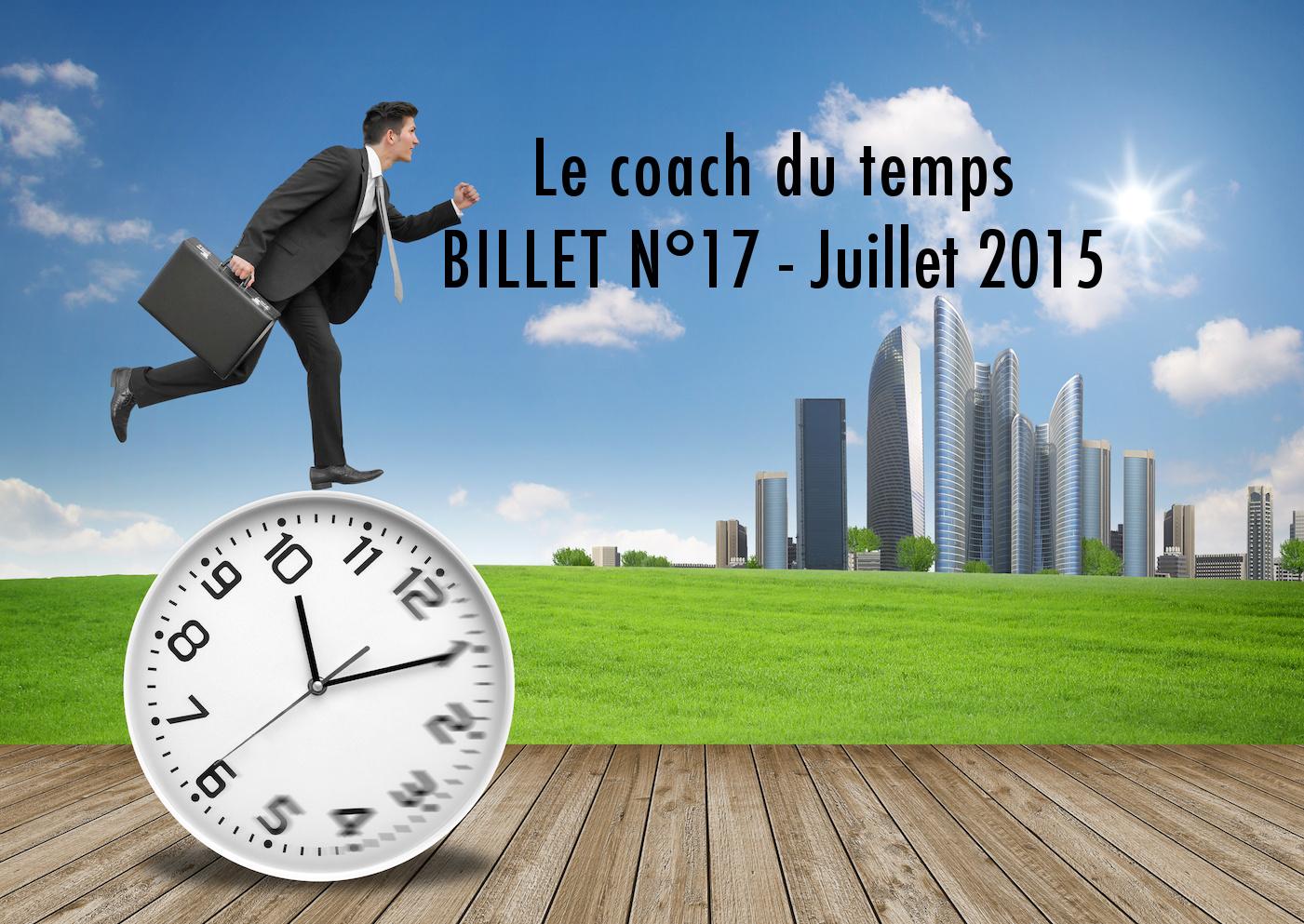 billet de conciliation entre productivité et bien-être n°17